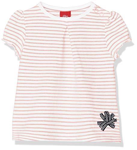 s.Oliver Baby-Mädchen 65.903.32.5434 T-Shirt, Rosa (Light Rose Stripes 41g0), Herstellergröße: 86 -