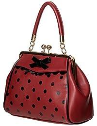 5dfe145e1d511 Banned Apparel verrückt Vintage 50s Rockabilly gepunktet retro Handtasche