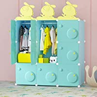 BECCOBEAT Baby Wardrobe Toy Storage Units Kids Wardrobes Bedroom Furniture Childrens Wardrobe Modern Plastic Cabinet Closet Organiser Cubes for Clothes Book School (9 cubes)