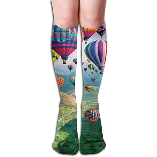 CVDFVFGB Compression Socks Hot Air Balloons High Boots Stockings Long Hose for Yoga Walking for Women - Air Sock Kostüm
