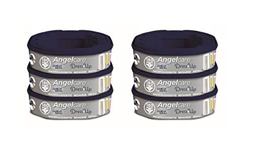 Angelcare Nachfüllkassetten für Windeleimer Dress-Up und Classic XL 6 Stück
