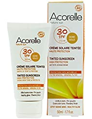 Acorelle - Crème solaire teintée SPF30 50Ml Bio - Livraison Gratuite pour les commandes en France - Prix Par Unité
