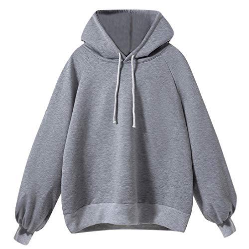Resplend Frauen Laterne Ärmel Bluse 2018 Neu Kapuzenpullover Sweatshirt Puffärmel Langarm Pullover