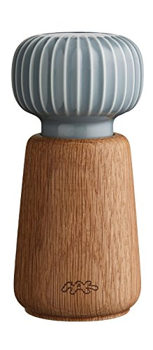 Kähler Design - Mühle Hammershøi Marble - Keramik / Holz - braun - Höhe 13 cm