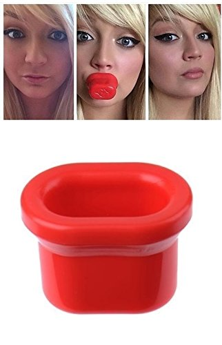 Kelley Super Sexy Lips Fuller Plumper Natural Enhancer Medium Size Beauty Makeup Plumping Device (Red)