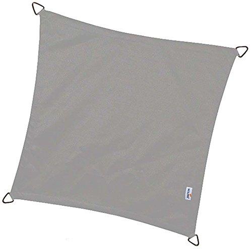 voile d'ombrage ajourée carré 3.6 x 3.6 m (anthracite )