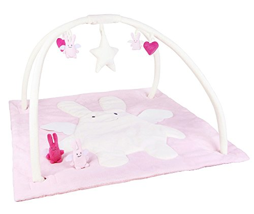 Trousselier - Tapis d'Eveil Musical 90 cm - Ange Lapin - Rose