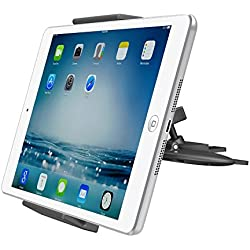 "APPS2CAR Support Tablette Universel pour Lecteur CD Rotation 360° CD Slot Tablet Mount Holder pour Ipad 2 3 4/Air 1 2/Mini 1 2 3 4, Samsung Tab S A 4 3, Kindle Fire 8"" 7"" 6"" HD Nokia N1, Sony LG Tablet, Sat Nav, GPS, iPhone 6S 6 5S 5,etc"