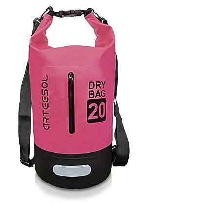 ARTEESOL-Dry-Bag-5L10L-20L-30L-Wasserdichte-PacksackTrockentasche-Verstellbarer-Schultergurt-Inklusive-Geeignet-fr-Kajak-Boot-KanufahrenAngeln-RaftingSchwimmen-CampingSnowboarden