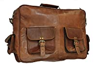Real Vision Made Leather Laptop Messenger Briefcase Crossover Shoulder Bag Executive Gift (16inch)