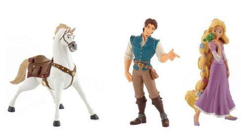 Bullyland Rapunzel mit Pascal, Flynn Rider und Maximus (Rapunzel Pascal Spielzeug)