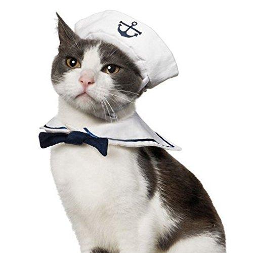 Namsan Katze Hund Sailor Kostuem Hut Marine (Marine Sailor Kostüme)