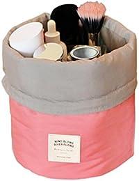 Glive's Waterproof Travel Dresser Bucket Barrel Shaped Cosmetic Makeup Bag Pouch Buy 1 Get 1 FREE !!!