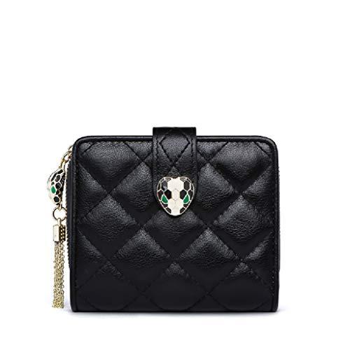 ZHOUYANCLeder Brieftasche weiblichen kurzen Absatz Neue Multifunktionsfalten Multi-Card einfache Frauen Rei?Verschluss kleine Brieftasche