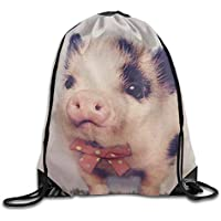 FAFANIQ AOOPK Cute Pig Drawstring Backpack Rucksack Shoulder Bags Training Gym Sack For Man and Women