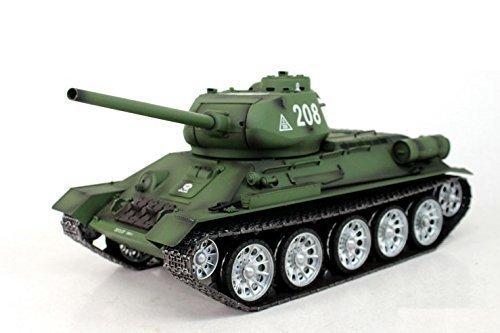 """RC Panzer \""""Russischer T-34/85\"""" 1:16 Heng Long -Rauch&Sound + Metallgetriebe und 2,4Ghz"""