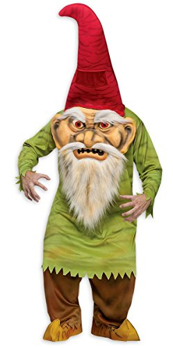 Hose Kostüm Gnome - Fun World Big Head Evil GNOME Erwachsene Kostüm One Size - Standard