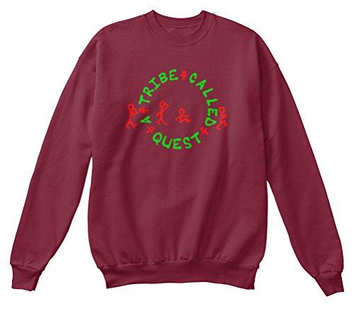 Bequemer Pullover Damen / Herren / Unisex M A TRIBE CALLED QUEST Burgunderrot (Kleidung Called Tribe Quest,)