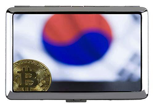 Zigarettenschachtel, Dollar Bitcoin Paragraph Zigarettenschachtel Metall Silber Für 14 Zigaretten
