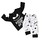 Dacestar Toddler Baby Boys Clothes 2PCs Outfit Set Nightmare Before Christmasv Printing Long Sleeve And Pants Set di Abbigliamento Abbigliamento per Bambini(18-24M)