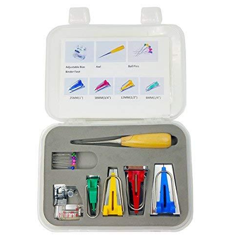 Top-spring Set von 7 Typ Stoff Bias Tape Maker Werkzeug Nähen Quilting mit Bindung Nähfuß, Quilten, Ahle, Ball Pins