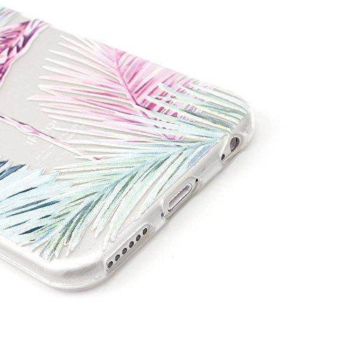 "iProtect TPU Schutzhülle Apple iPhone 6 6s (4,7"") Soft Case - flexible Hülle in transparent Avocado Design Softcase Flamingo"