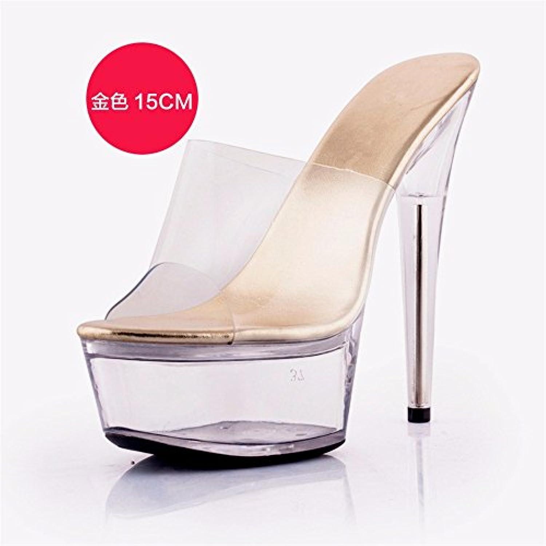FLYRCX Estate sottile trasparente trasparente trasparente tacco tacco alto ladies semplice personalità di moda sandali cool pantofole... | Materiale preferito  | Uomo/Donne Scarpa  fe50b8