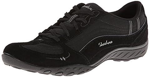 Skechers Breathe-EasyJust Relax, Damen Sneakers, Schwarz (BKCC), 37 EU
