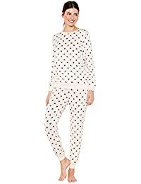 72e15b2012 Lounge   Sleep Womens Pale Pink Heart Print Knitted Pyjama Set