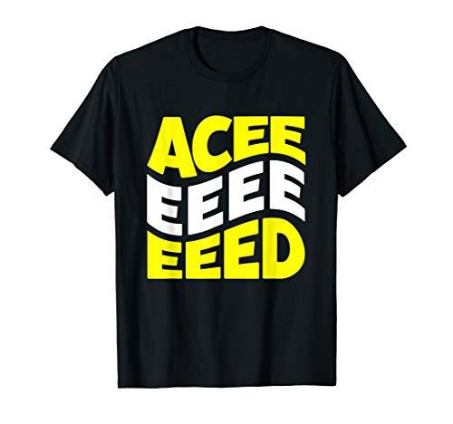 Men or Women's Aceeeeeeeeed 80s Acid House Rave T-Shirt. S to 3XL