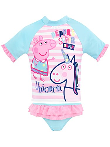 Peppa Wutz Mädchen Peppa Pig a Einhorn Zweiteiliger Badeanzug Rosa 104 (Peppa Badeanzüge Für Mädchen)