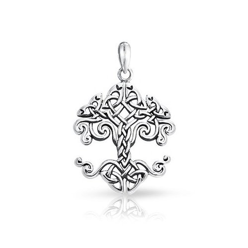 Bling Jewelry Piccolo Celtic Knot Tree of Life Sterling Silver Ciondolo