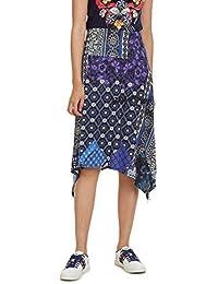 Desigual Skirt Knee Katherine Woman Blue Falda para Mujer