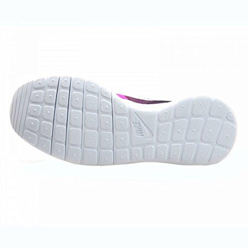 Nike Unisex, bambini Jr Rosherun Flight Weight Gs Scarpe da Ginnastica Basse Rosa (Rosa / Blanco)