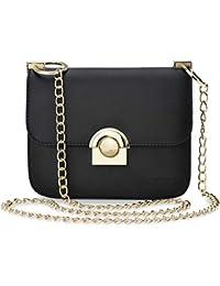 6d5bd1aaf0dfc Monnari klassische Schultertasche Damentasche mit Kettenriemen Like schwarz