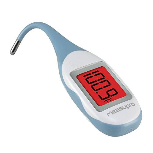 MeasuPro Quick Read Termometro digitale Bébé con design ultra morbido e impermeabile, indicazione febbre con modifica colore e funzione memoria, CE, Approvazione FDA