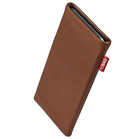 fitBAG Beat Marron housse pochette pour téléphone portable en cuir nappa intérieur en microfibres pour Apple iPhone 5 / 5s / SE 16GB 32GB