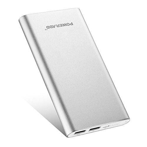 Poweradd pilot 2gs caricabatterie portatile 10,000mah, batteria esterna con 2 output per iphone 8/7/6, samsung e tanti altri