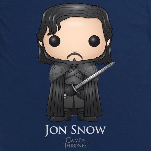Official Game of Thrones - Funko POP Jon Snow T-Shirt, Damen Dunkelblau