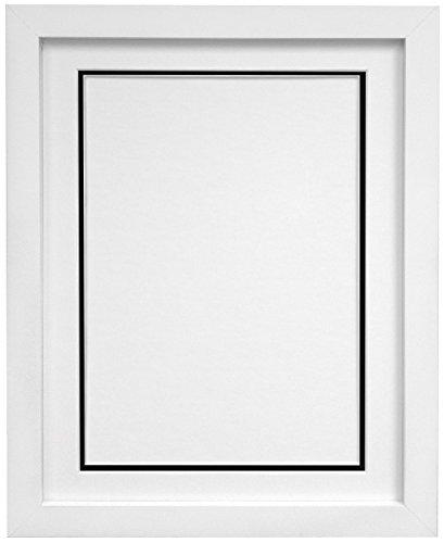 Frames by Post H7Bilderrahmen Rahmen mit Weiß und Schwarz Doppel-Passepartout für Bildgröße 10x 20,3cm, Weiß, 12x 10-inch-p, holz, weiß, A3 Image Size A4 (Doppel-schwarz Und Weiß)
