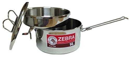 Zebra Head 14cm Camping Pot Stainless Steel