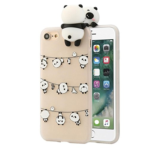 Ouneed® Für iPhone 7 Hülle, Ultra Slim 3D Cartoon Animals Cute Bare Bears Soft Silicone Case Skin For IPhone 7 (C) C