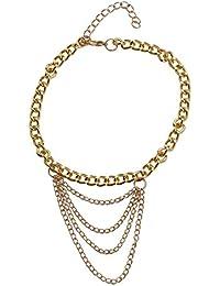 FemNmas Gold Stylish Multi Chain Draping Heel Anklet (Single)For Women Girls
