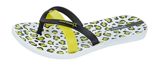 Ipanema Mulheres Impressão De Seda Flip-flops / Sandálias Pretas