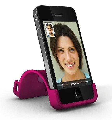 XtremeMac IPP-SS5-13 SnapStand Licorice Schutzhülle für Apple iPhone 4/4S mit Stand-Funktion schwarz pink