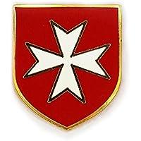 Patch Nation Cruz maltaise caballeros Witch cruzado Croix-Rouge Metal pins broche