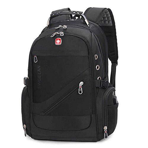 Adaym Schweizer Ausrüstung Outdoor-Reisetasche für Männer Wasserdichte Laptop-Rucksack-Schultasche