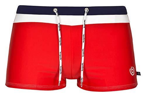 bugatti® - Herren Badehose / Badepants in rot, Größe S(Herstellergröße: 4)