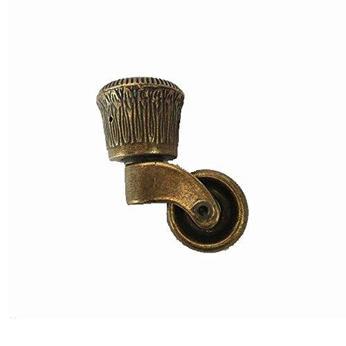 Messing Metall Stuhl (antrader Metall Swivel rund-Caster Bronze Ton für Möbel Stuhl)