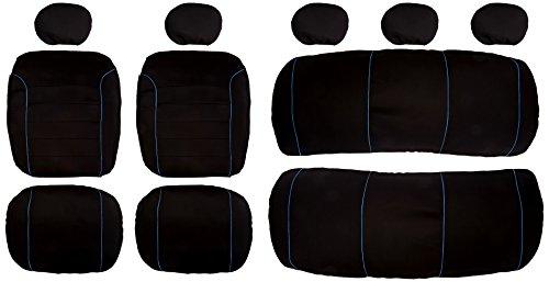 Akhan SB303 - Qualität Auto Sitzbezug Sitzbezüge Schonbezüge Schonbezug mit Seitenairbag Schwarz/Blau